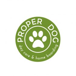Proper Dog logo, designed by Awenek.